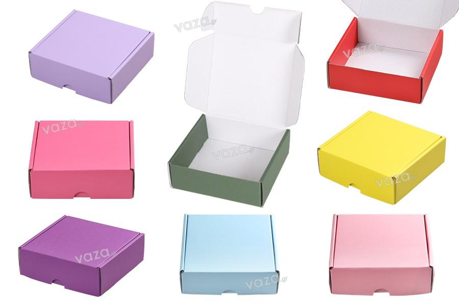 Κουτί συσκευασίας από χαρτί κραφτ 130x130x45 mm χωρίς παράθυρο - Συσκευασία 10 τμχ