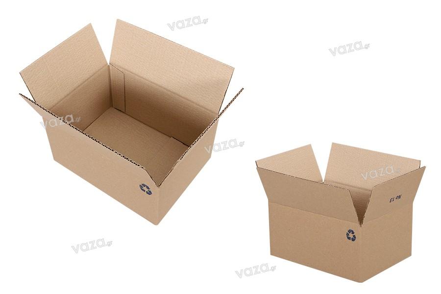 Χαρτοκιβώτιο 25x18x12 καφέ 3-φυλλο (No 13) - 25 τμχ