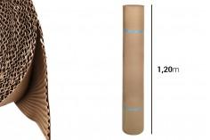 Χαρτόνι οντουλέ κυματιστό σε φυσικό χρώμα. Πωλείται ανά ρολό με μήκος 10 m -  φάρδος 1,20 m