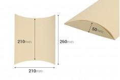 Κουτί δώρου 210x210x50 mm χάρτινο σε διάφορα χρώματα - 20 τμχ