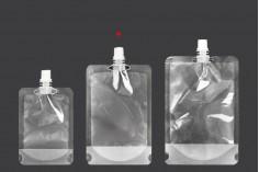 Συσκευασία (ασκός) τύπου Doy Pack διάφανη 300 ml με λευκό καπάκι - 50 τμχ