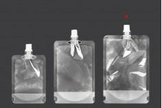 Συσκευασία (ασκός) τύπου Doy Pack διάφανη 500 ml με λευκό καπάκι - 50 τμχ