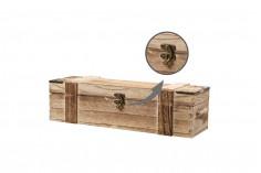 Caisse de rangement à vin en bois