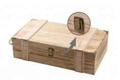 Ξύλινο κουτί αποθήκευσης για 2 μπουκάλια κρασιού