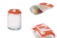 """Σακουλάκια τύπου Doy Pack σε σχήμα βάζου 105x30x154 mm με κλείσιμο """"zip"""" - 50 τμχ"""
