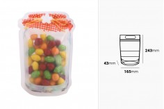 """Σακουλάκια τύπου Doy Pack σε σχήμα βάζου 165x43x243 mm με κλείσιμο """"zip"""" - 50 τμχ"""