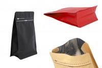 Σακουλάκια αλουμινίου τύπου Doy Pack, κλείσιμο με θερμοκόλληση, άνοιγμα με ταινία ασφαλείας και χρήση του zipper 130x70x200 mm - 25 τμχ