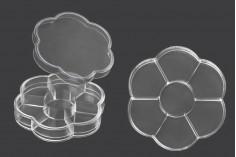 Κασετίνα ακρυλική διάφανη 7 θέσεων για glitter και καλλυντική χρήση