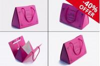 """Τσάντα δώρου φούξ """"Τρίγωνο"""" 175x90x135 - 20 τμχ"""