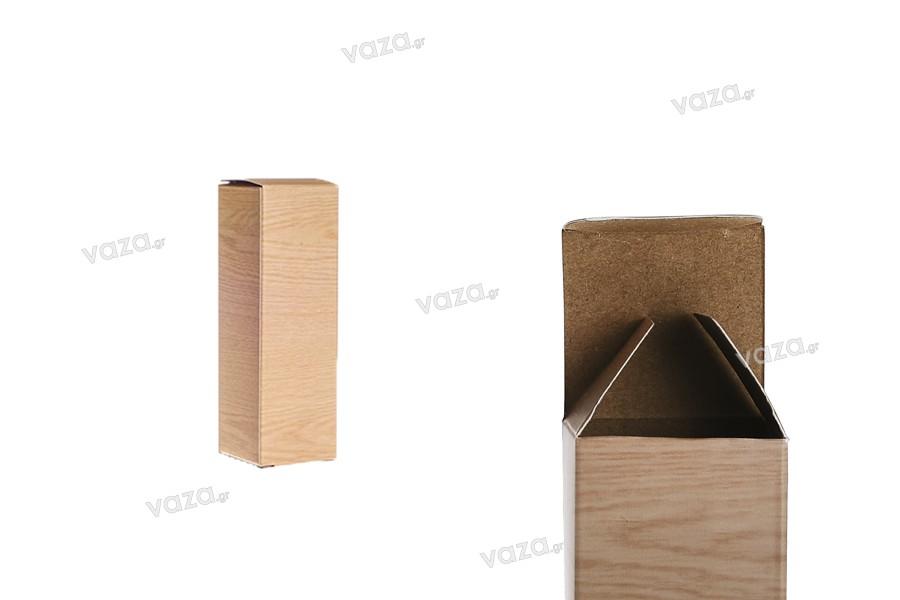 """Χάρτινο κουτάκι με τύπωμα σχέδιο """"ξύλου"""" 39x39x120 - 50 τμχ"""