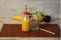 Μπουκαλάκι για χυμό με διαβάθμιση περιεκτικότητας και τρύπα στο καπάκι για καλαμάκι 250 ml