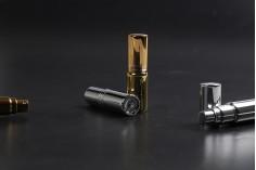 Tester αρωμάτων 5 ml γυάλινο με σπρέι-καπάκι και επικάλυψη αλουμινίου σε χρυσό ή ασημί γυαλιστερό UV
