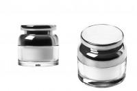 Βαζάκι για κρέμα 30 ml ακρυλικό με καπάκι και πλαστικό παρέμβυσμα