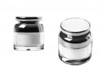 Βαζάκι για κρέμα 50 ml ακρυλικό με καπάκι και πλαστικό παρέμβυσμα