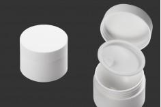 Βάζο 15 ml πλαστικό δίπατο με εσωτερικό παρέμβυσμα στο καπάκι και πλαστικό στο βάζο