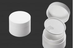 Βάζο 30 ml πλαστικό δίπατο με εσωτερικό παρέμβυσμα στο καπάκι και πλαστικό στο βάζο