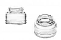 Βάζο 30 ml γυάλινο σε διάφανο χρώμα - χωρίς καπάκι