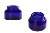 Βάζο 30 ml γυάλινο σε μπλε χρώμα - χωρίς καπάκι