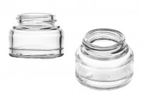 Βάζο 50 ml γυάλινο σε διάφανο χρώμα - χωρίς καπάκι