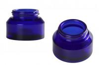 Pot en verre de 50 ml de couleur bleue - sans couvercle