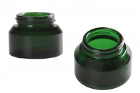 Pot en verre de 50 ml de couleur verte - sans couvercle