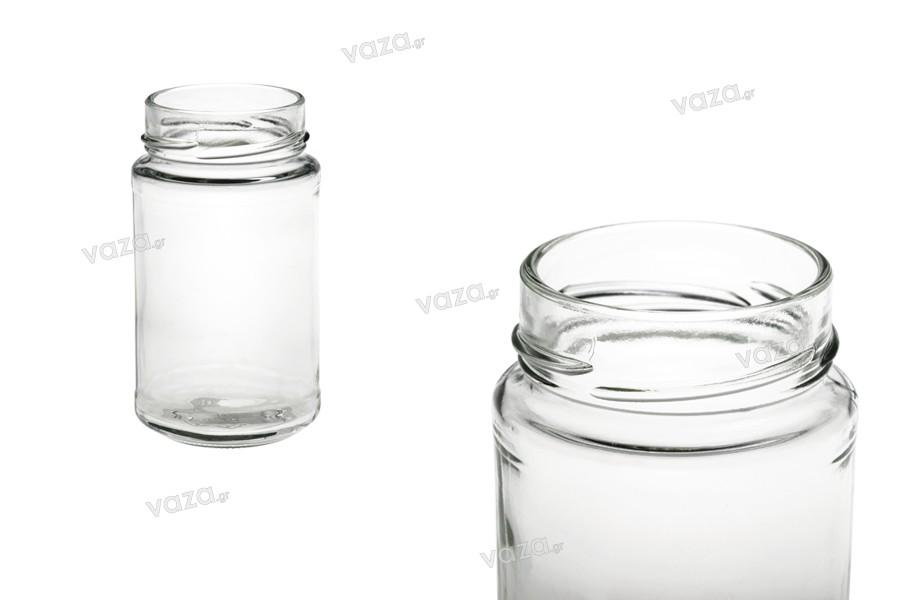 Βάζο γυάλινο 250 ml με στόμιο για καπάκι Deep Τ.Ο 58