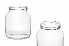 Βάζο 720 ml γυάλινο οβάλ