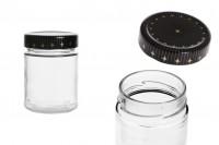 Βάζο 320 ml γυάλινο μαζί με καπάκι - 18 τμχ