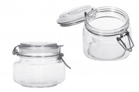 Βάζο γυάλινο 500 ml με σύρμα και λάστιχο