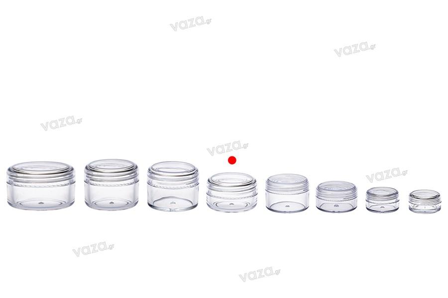 Βάζο ακρυλικό 20 ml με καπάκι - 12 τμχ
