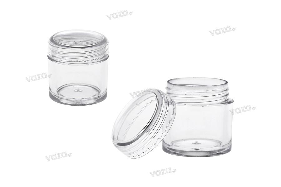 Βαζάκι 7 ml διάφανο, πλαστικό σωληνωτό 265x29 mm - 50 τμχ