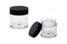 Βαζάκι 10 ml πλαστικό με μαύρο καπάκι 31x31,6 - 12 τμχ