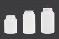 Βάζο πλαστικό PET 200 ml σε λευκό χρώμα για χάπια και κάψουλες