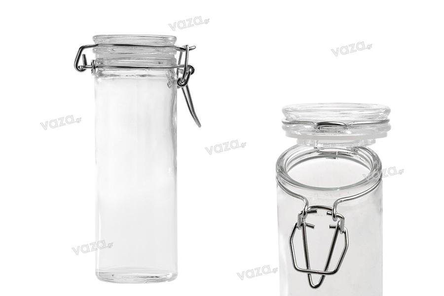 Glass jar 120 ml with airtight sealing