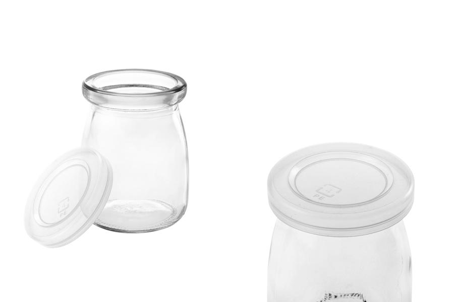 Βαζάκι 100 ml στρογγυλό με πλαστικό καπάκι
