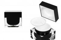 Βάζο πολυτελείας για κρέμα 50 ml, ακρυλικό με πλαστικό παρέμβυσμα στο βάζο και εσωτερικό στο καπάκι