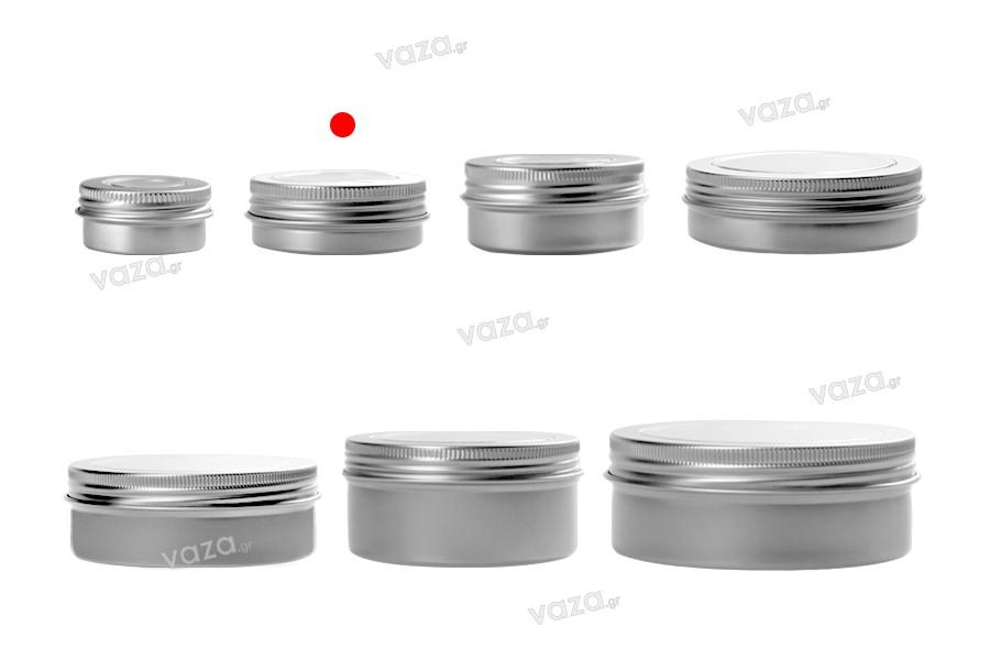 Pot en aluminium 30 ml avec fenêtre au couvercle - 12 pcs
