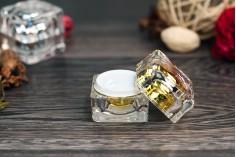 Βαζάκι πολυτελείας 15 ml για κρέμα με εσωτερικό παρέμβυσμα στο καπάκι και πλαστικό στο βάζο