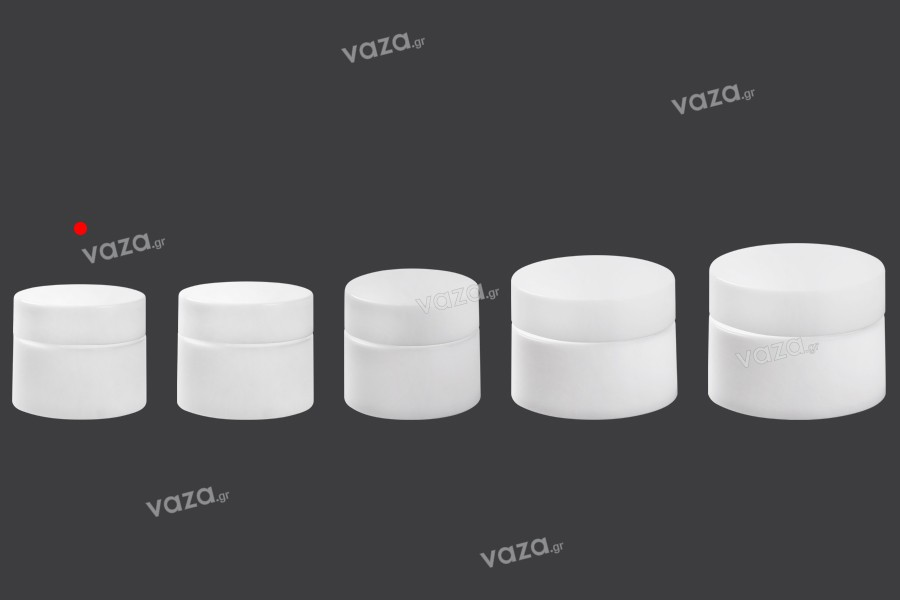 Βάζο 3 ml πλαστικό δίπατο με εσωτερικό παρέμβυσμα στο καπάκι - 12 τμχ