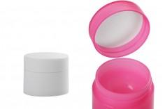 Βάζο 5 ml πλαστικό δίπατο με εσωτερικό παρέμβυσμα στο καπάκι - 12 τμχ