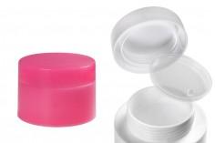 Βάζο 50 ml πλαστικό δίπατο με πλαστικό παρέμβυσμα - 6 τμχ