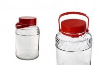 Bocal de 5 litres pour stockage d'aliments et de boissons