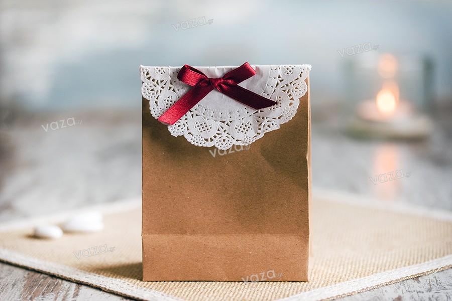 Τσάντα δώρου χάρτινη κραφτ με κορδόνι 3 mm και λεία υφή 110x60x140