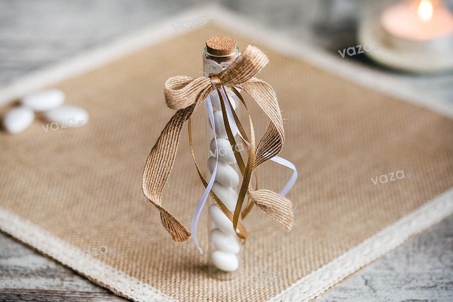 2e5bcf412c Γυάλινοι σωλήνες με φελλό για μπομπονιέρα γάμου βάπτισης