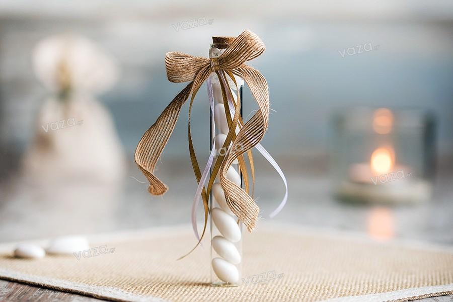 6bc675e096e Γυάλινοι σωλήνες με φελλό για μπομπονιέρα γάμου βάπτισης