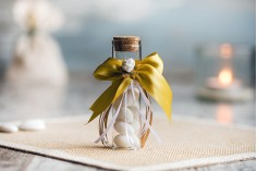 Μπομπονιέρες γυάλινοι σωλήνες με φελλό για γάμο - βάπτιση