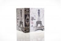 """Κουτί δώρου σε σχήμα βιβλίου, τύπωμα """"Aiffel 1"""", μέγεθος 170x140x45"""
