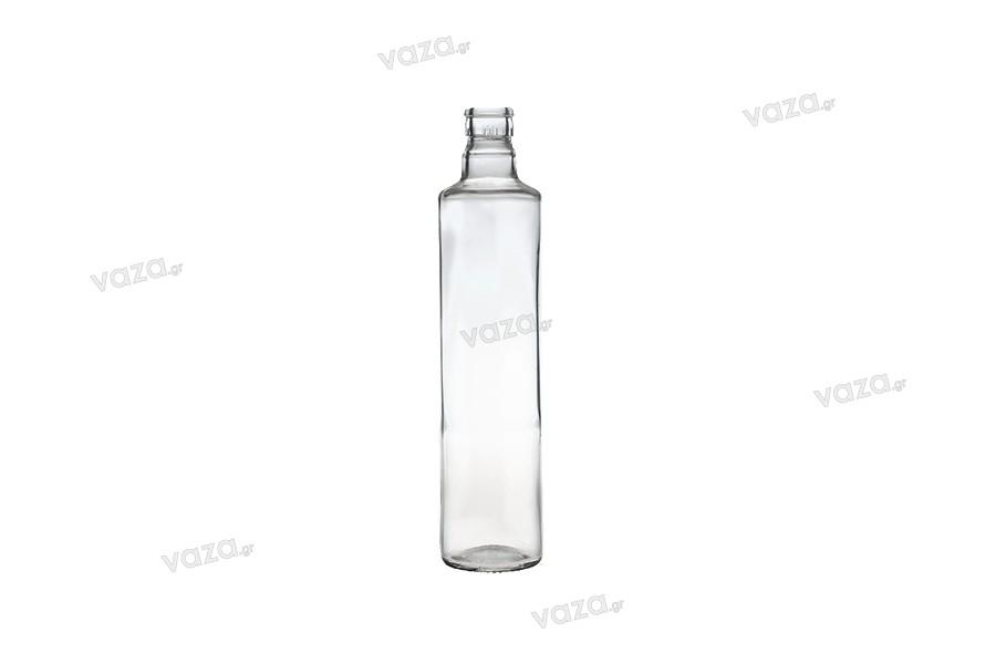 Μπουκάλι γυάλινο διάφανο για ελαιόλαδο και ξύδι 500 ml με λαιμό για πώμα ασφαλείας 1031/47 (τύπου Guala)