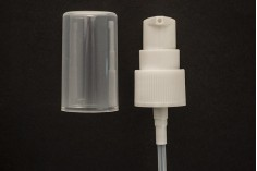 Αντλία πλαστική για κρέμες με ολόκληρο διάφανο καπάκι - στόμιο PP20