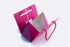 """Τσάντα δώρου φούξ """"Τρίγωνο"""" πλαστικοποίηση 175x90x135"""